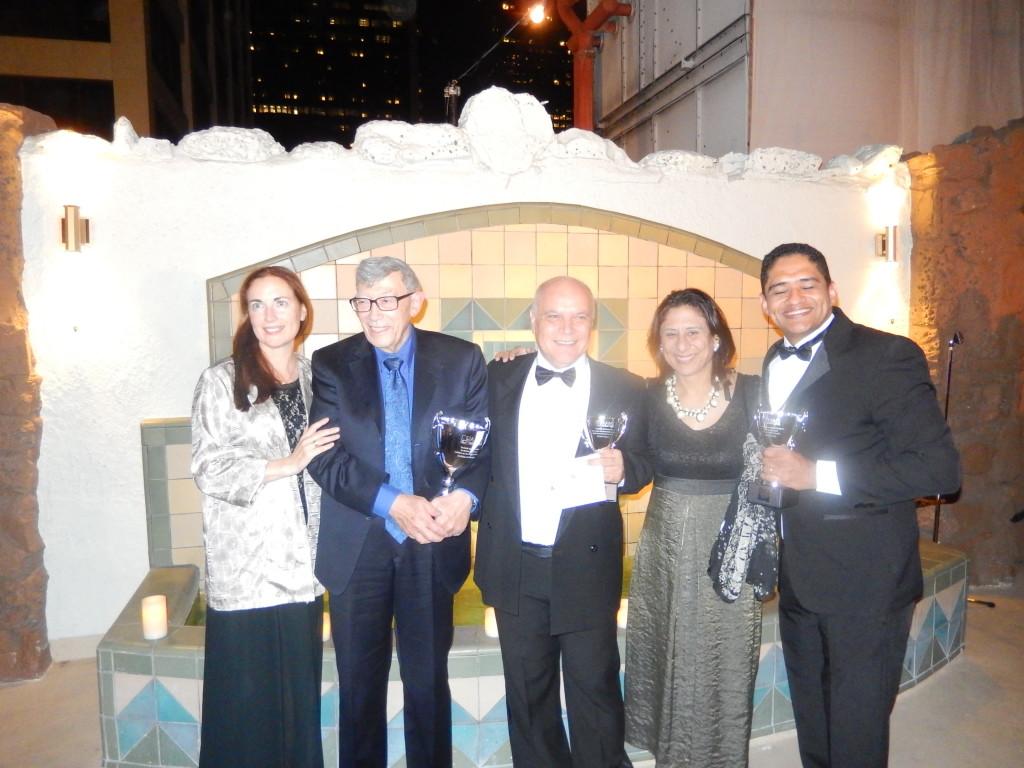 La premiazione. Licia Paskay, presidente della AAMS, il Prof Guilleminault, Irene Marchesan e Hilton Justino