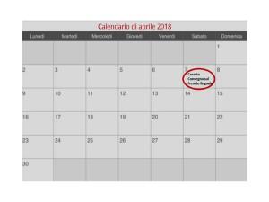 calendario convegno